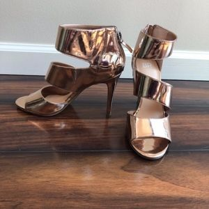 NWOT BP by Nordstrom Rose Gold Stiletto Sandals